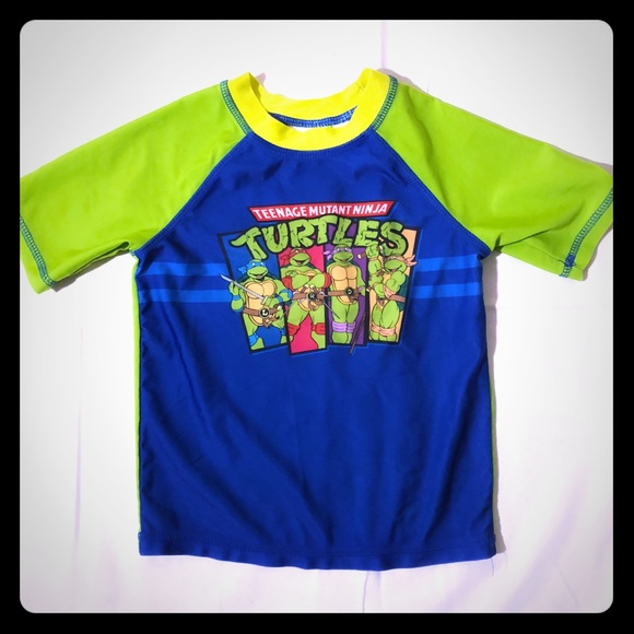 e6d9adc3d7 TMNT Ninja Turtle 4T Rashguard Swim Shirt. M_5acbc2a18df47008da3aeb62